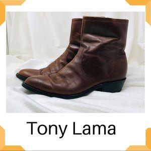 Tony Lama Pampas Zipper Ankle Cowboy Boots 11D